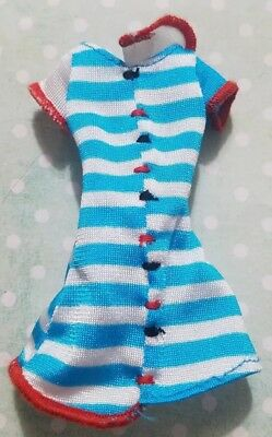 Monster High Doll Clothing Classroom Home Ick Frankie Stein Blue White Red Dress