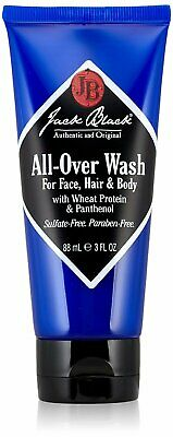 Jack Black All-Over Wash for Face, Hair & Body - Jojoba Protein & Panthenol 3oz