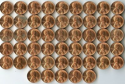 1940-D Uncirculated Lincoln Wheat Cent Penny Roll
