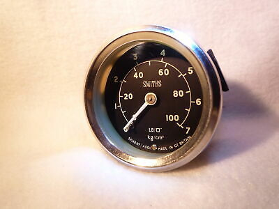 SMITHS OIL PRESSURE GAUGE series 2 3 landrover mini kit car austin triumph mg