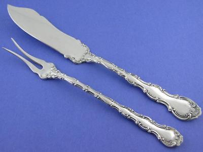 Sterling GORHAM Master Butter Knife & Serving Pick STRASBOURG ~new mark ~no mono