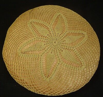 1900's ANTIQUE HANDMADE HAND CROCHETED PILLOW