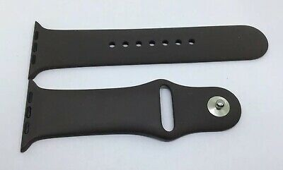 GENUINE APPLE WATCH SPORT BAND STRAP 42mm /44mm Cocoa S/M Silver Pin