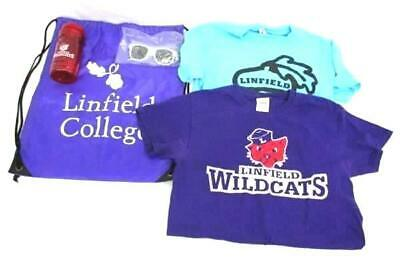 8e9a6f5fef33 Linfield College Lot of 2 T-Shirts Wildcats Size S Sunglasses Bag Water  Bottle