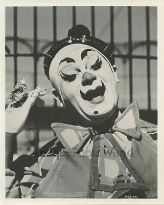 Woman clown with large ring antique Ringling Bros circus photo