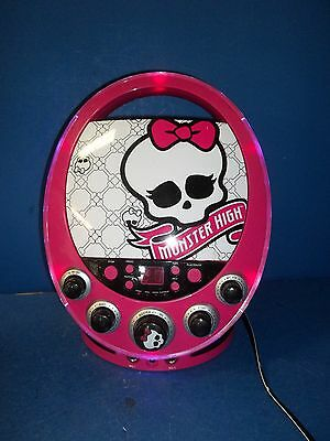 Monster High Pink & Black Disco Party CD Player w Flashing LED Lights