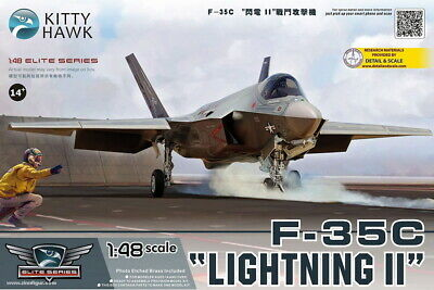 KittyHawk Model kit #80132 1/48 Loc#eed-Martin F-35C Lightning II
