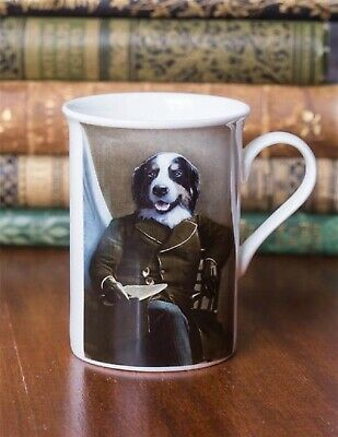 Victorian Trading Co Mr. Dignified Aristocratic Border Collie Dog Mug