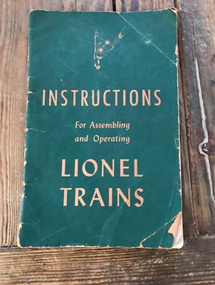 Instructions For Assembling and Operating Lionel Trains 1946 + extras