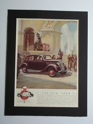 1935 Ford V-8 Saloon De Luxe Magazine Print Advertising