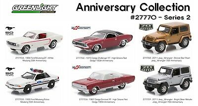 Greenlight 1:64 Greenlight Anniversary Collection Series 2 Complete Set Of 6