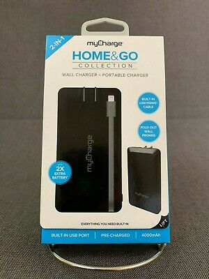 5061eccde39b6b myCharge Home & Go Wall Charger Portable Charger 4000mAh Power Bank for  iPhone