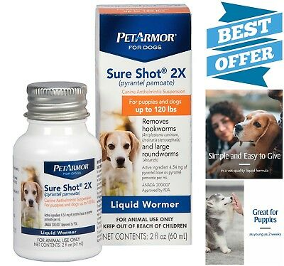 Dogs Puppies Liquid De-Wormer Pyrantel Pamoate Pet Health Care 2 oz Vet-Quality