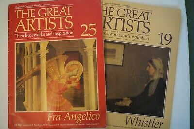 The Great Artists Magazines x 2 - Fra Angelico and Whistler Great Facts Info Art