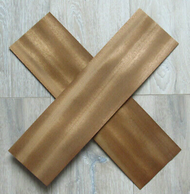 "Bibolo wood veneer, 4 veneer sheets, ~45 x 11.5 cm (~17.7 x 4,33"") 0.6 mm ~1/42"""