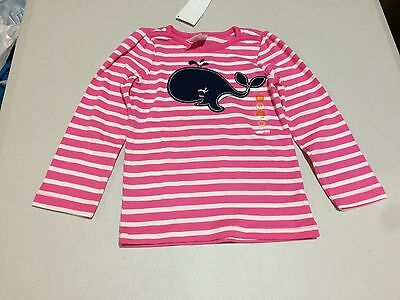 NWT Gymboree Stripes and Anchors Whale Shirt Shirt Top 12-18M 2T Toddler Girl