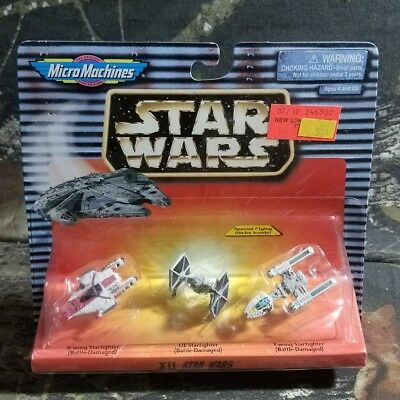 1996 Star Wars Micro Machines ORANGE CARD XII A-Wing, TIE Fighter, Y-Wing MOC CZ