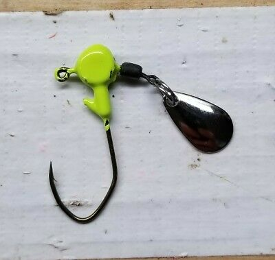 Shur Strike SSRHS116-C Round Head Spinners 1//16 oz 4pk Chartreuse