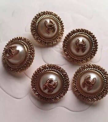 Chanel Pearl Buttons set Of 5 18MM