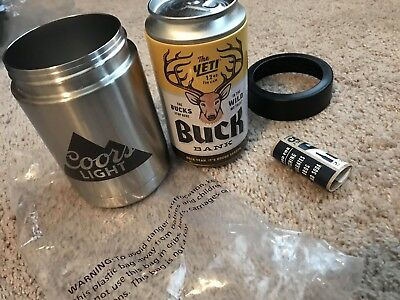 YETI RAMBLER COLSTER Stainless Insulated Can Bottle Koozie