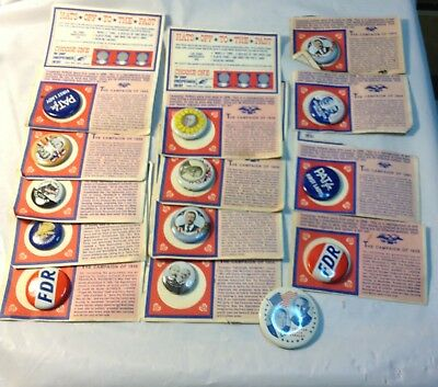 Lot of 14 American Oil Replica Reproduction Campaign Pinback Pins Buttons