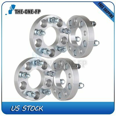 """4Pcs 1"""" 25mm 5x4.5 1/2"""" 70.5mm Wheel Spacers For 1967-2014 Ford Mustang"""