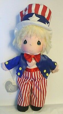 Precious Moments Uncle Sam Plush Doll Patriotic Boy Applause 4th of July Baby
