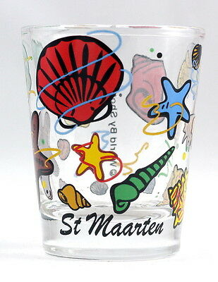 St.martin Sea Shells Shot Glass Shotglass