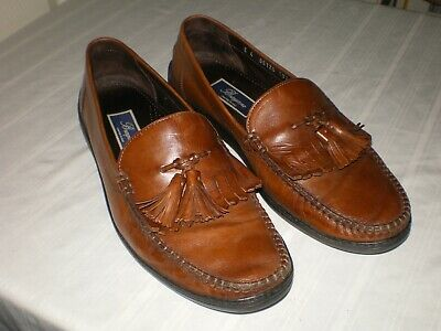 55fac0c78d0 Cole Haan Bragano Italy Brown Leather Tassel Kiltie Loafer Shoe Mens 10.5 M