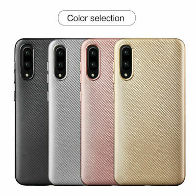 Shockproof Slim Carbon Fiber Soft Rubber Cover Case For Samsung Galaxy A30/A50