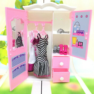 Princess bedroom furniture closet wardrobe for dolls toys girl  gifts ATAU