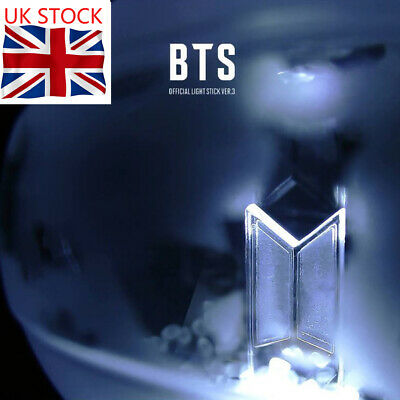UK Kpop BTS LIGHT STICK ARMY BOMB VER 3 Bluetooth function Concert Lamp