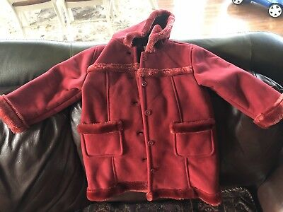 Gap Girl Red Hood Coat Size 3 Years Xl