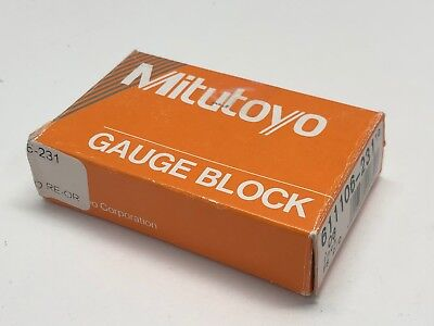 "Mitutoyo 0.06"" Steel Rectangular Gauge Block 611106 -231 FS-2/D *NEW*"