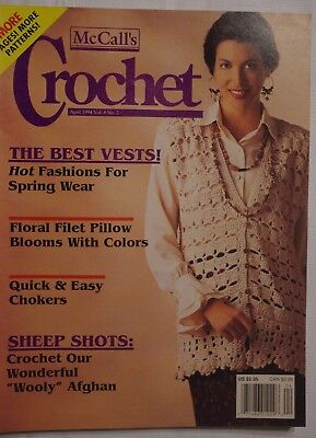 f4f49306febe VTG Arts   Crafts Magazine McCall s Crochet More Pages More Patterns April  1994