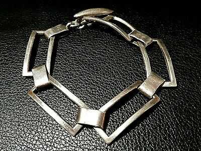 Vintage-925-Sterling-Silver-Bracelet-Ladies-Classic-Pure-Solid-Fine-Jewelry