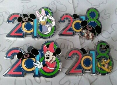2018 Dated Year Mystery Earhat Disney Parks Trading Pin Make a Set Lot