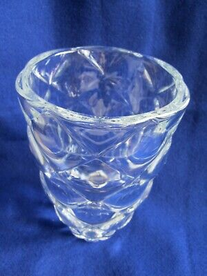 RARE Mid-Century Modern Type Lead-Free Crystal Quartz Glass Vase by Nachtmann