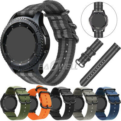 Universal Nylon Wrist Watch Band Replacement Sports Strap Quick Install 20 22mm