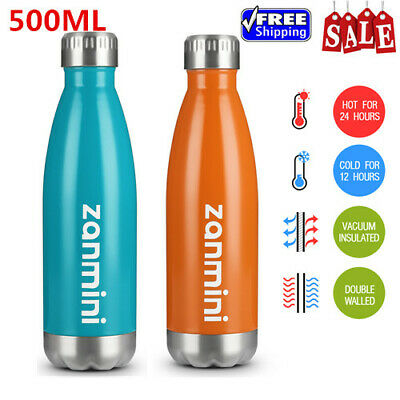 Stainless Steel Cola Vacuum Insulated Water Bottle Cup 500ML With Bottle Bag