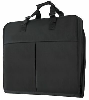 """40"""" Hanging Travel Carry On Garment Suit Dress Bag with 2 Extra Large Pockets"""