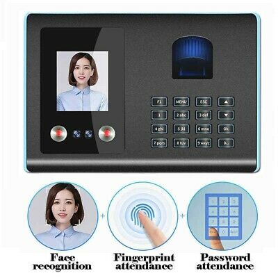 3 IN 1 Face Recognition Fingerprint Attendance Machine Time Clock Reader Machine