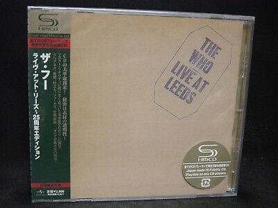 THE WHO Live At Leeds JAPAN SHM CD Roger Daltrey Pete Townshend Keith Moon Rock