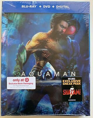 New Dc Aquaman Blu Ray Dvd Digital 2 Disc Target Exclusive Lenticular Digibook