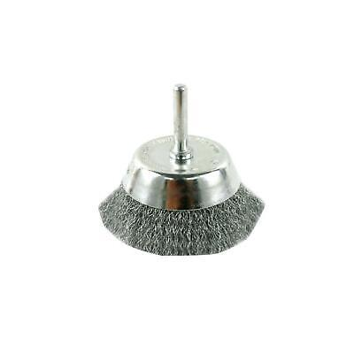 Avanti Pro 3 in. Wire Cup Brush for metal cleanup light paint rust removal