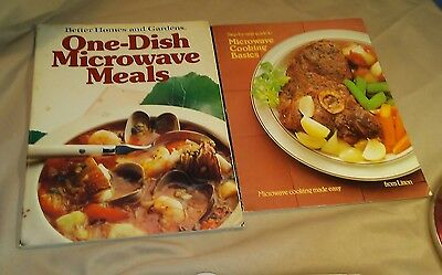 Lot of 2 VTG 1980's Microwave Cooking Books from Litton & Better Homes & Gardens