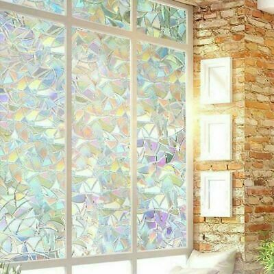 2PC 200cm Window Film Stained Glass Pattern Window Clings Office Home Gift