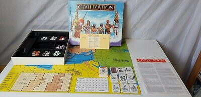 Civilization Vintage Board Game 1980 Ancient History  Strategy RARE - Very Good