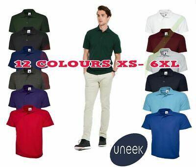 Uneek Unisex Mens ACTIVE POLOSHIRT WORKWEAR TOP Casual Leisure Polo XS - 6XL 105