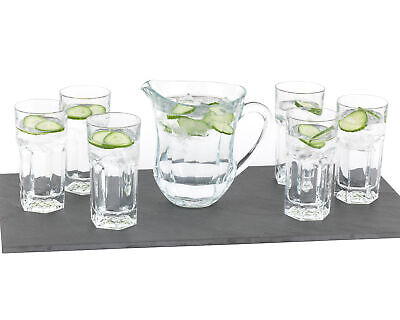 RCR COMBO-1731 Provenza Crystal Sangria Jug and Hi-Ball Tumblers, 7 Piece